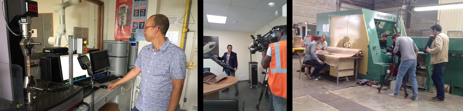 Reportages télévisés pour France 3 Normandie et France 3 Bretagne (UBS - EcoTechnilin - Teillage Vandecandelaère)